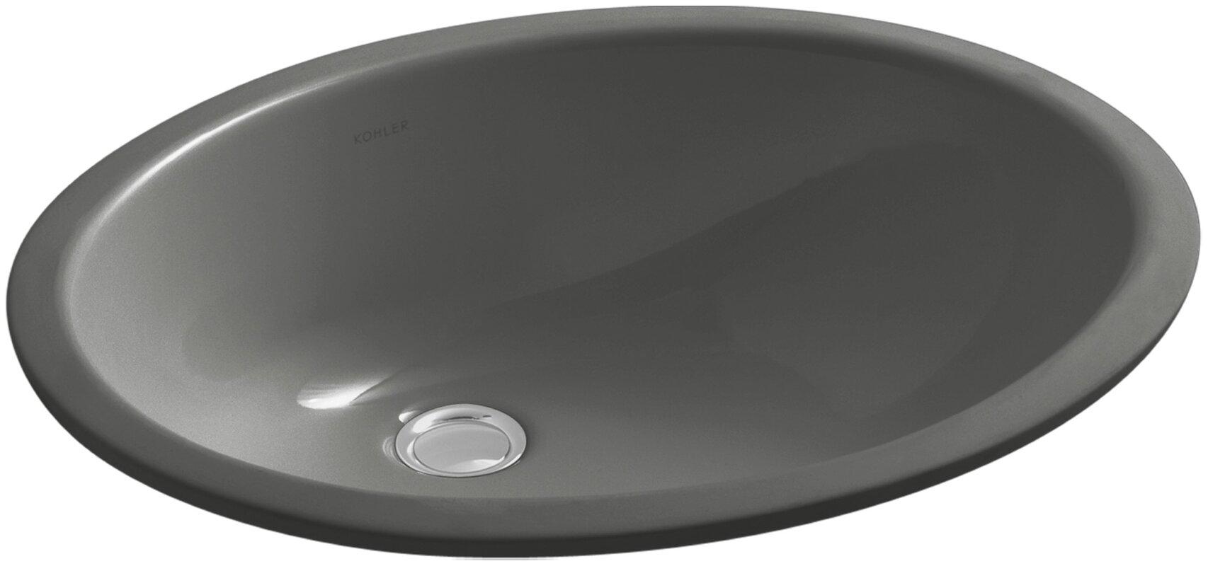 Grey Undermount Bathroom Sink kohler caxton oval undermount bathroom sink with overflow