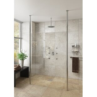 Milam 1850mm x 970mm Frameless Fixed Glass Panel by Belfry Bathroom