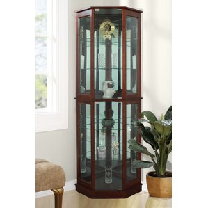 Biali Lighted Corner Curio Cabinet