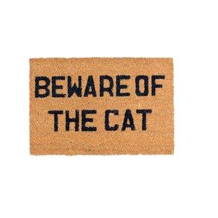 Beware of the Cat Doormat by Dandy