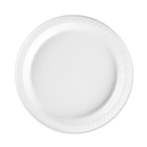 sc 1 st  Wayfair & Genuine Joe Reusable/Disposable Plastic Plates White | Wayfair