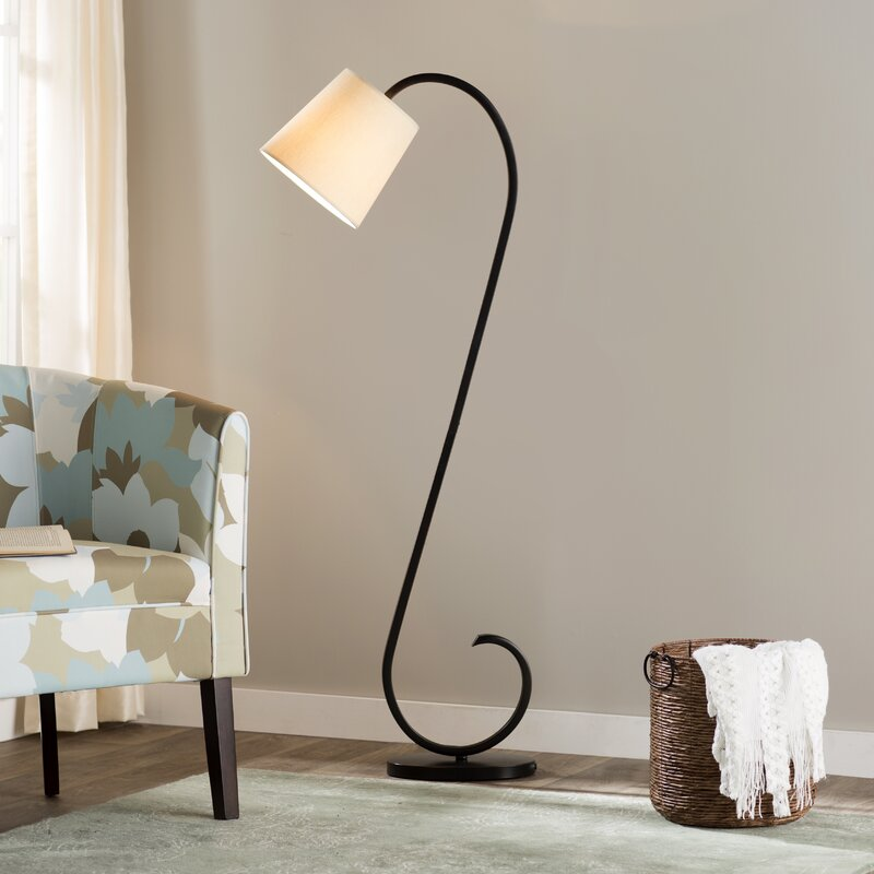 Andover mills gladiola 56 arched floor lamp reviews wayfair gladiola 56 arched floor lamp aloadofball Image collections