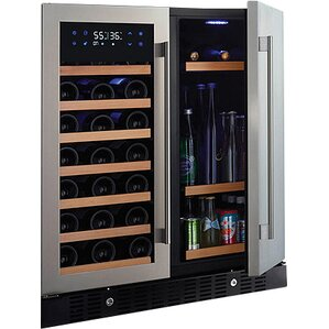 16 Bottle N'finity Pro HDX Compact Dual Zone Wine Cooler by Wine Enthusiast