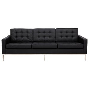 Lorane Leather Sofa by LeisureMod