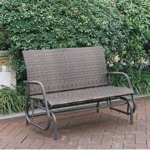 Wayzata Outdoor Wicker Glider Bench