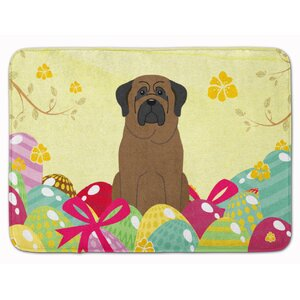 Easter Eggs Bullmastiff Memory Foam Bath Rug