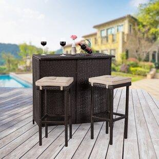 patio bar sets you ll love wayfair