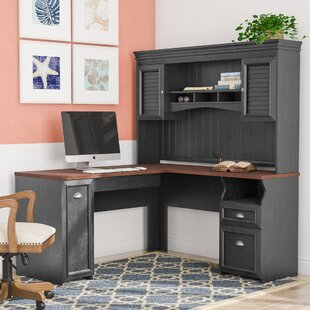 Oakridge L Shaped Executive Desk With Hutch
