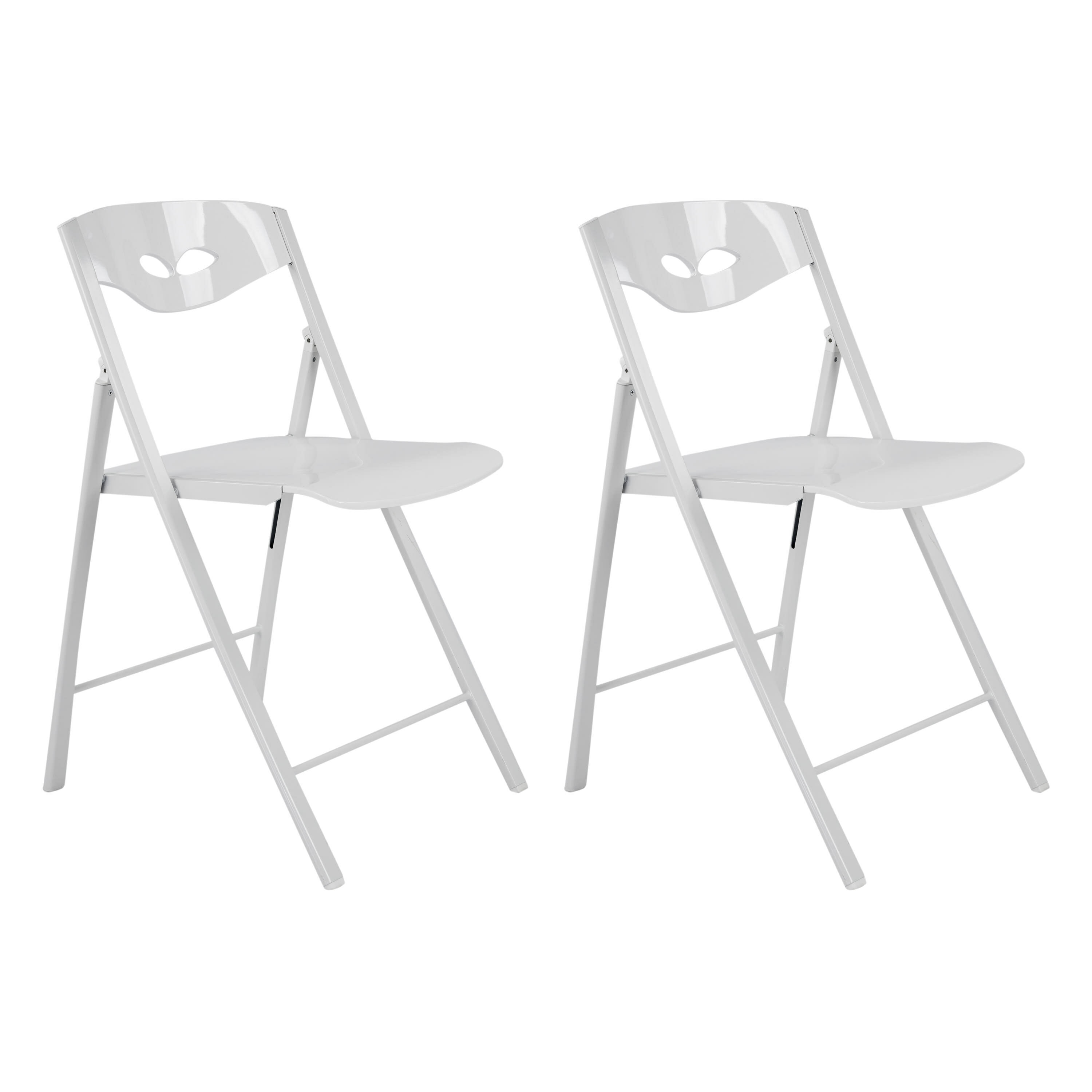 CORNER HOUSEWARES Contemporary Designed Sturdy Metal Folding Chair