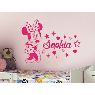 Minnie Mouse Personalized Name Wall Decal