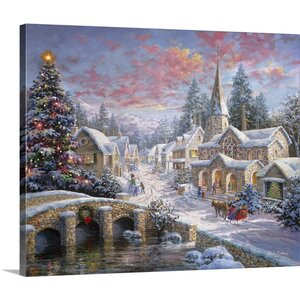 Christmas Art Heaven on Earth by Nicky Boehme Painting Print on Wrapped Canvas