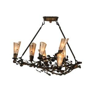 Vine chandelier wayfair vinca vine 7 light shaded chandelier aloadofball Image collections