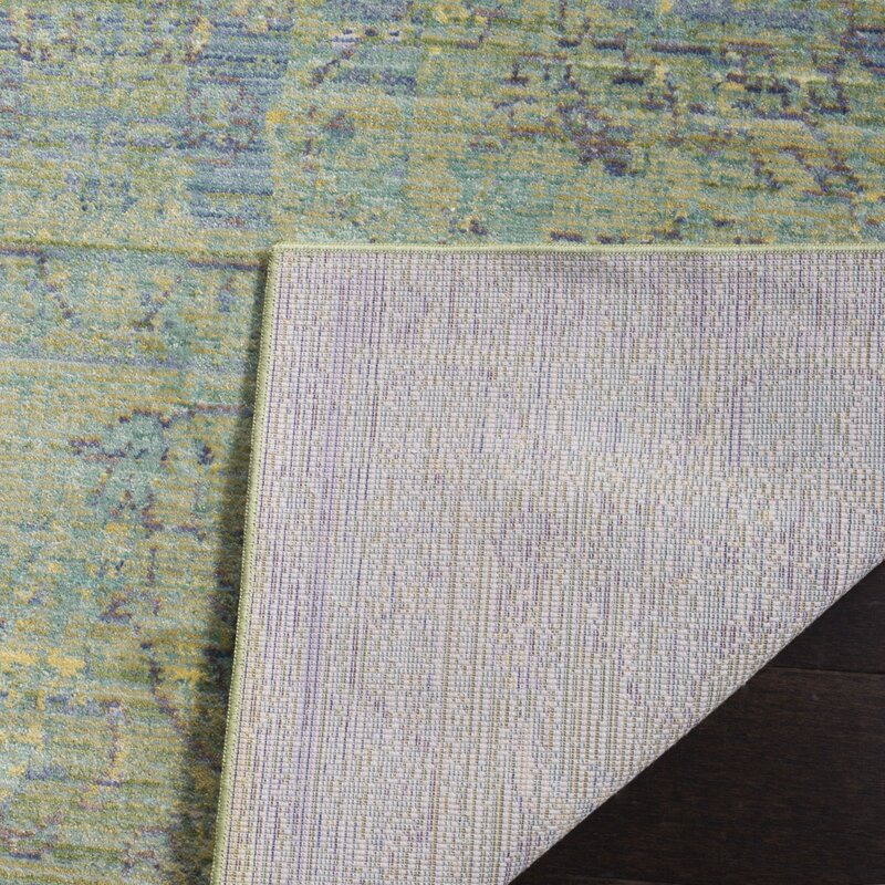 Attractive Doline Blue/Yellow Area Rug