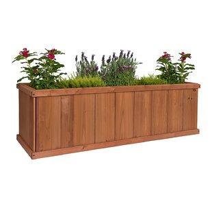Wood planter boxes youll love wayfair gran robusto cedar planter box workwithnaturefo