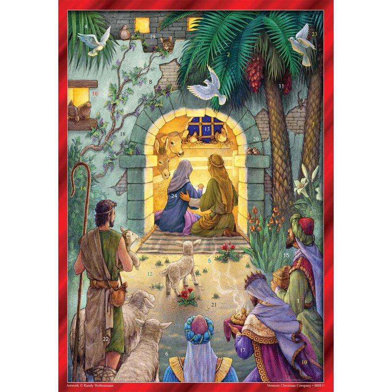 The Holiday Aisle Peaceful Nativity Advent Calendar Wayfair