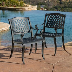 grimm patio dining chair set of 2