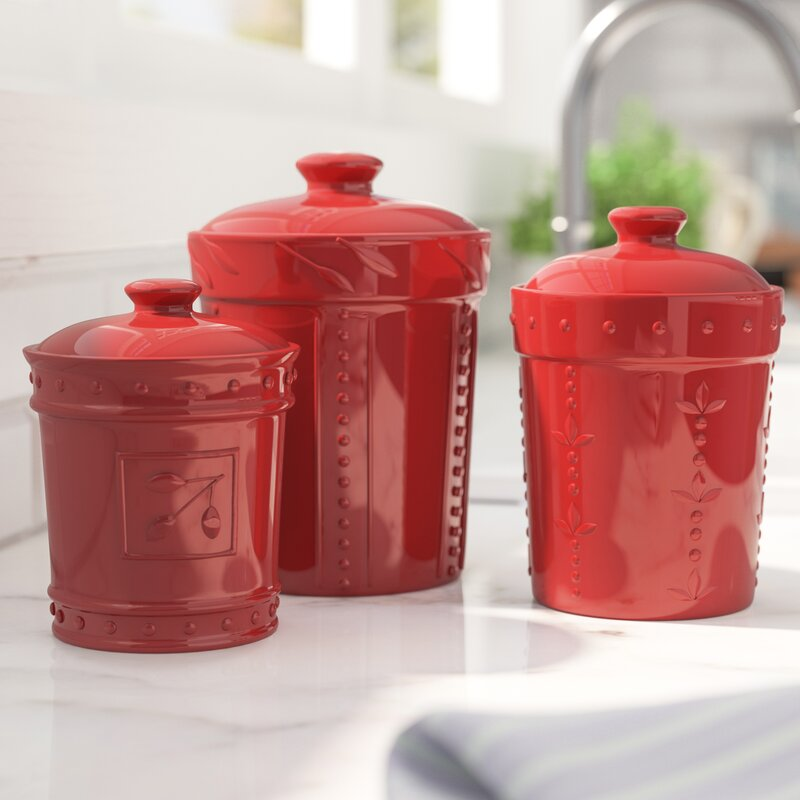Charmant Genesee 3 Piece Kitchen Canister Set