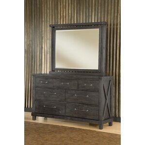 Gaudette 7 Drawer Dresser with Mirror by Gracie Oaks