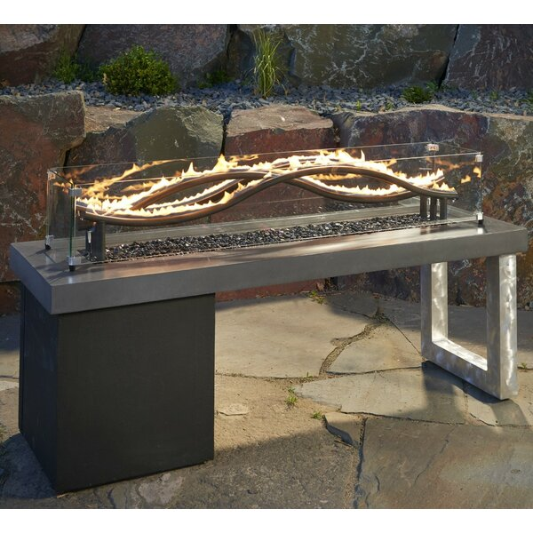 The Outdoor GreatRoom Company Wave Propane Fire Pit Table U0026 Reviews |  Wayfair