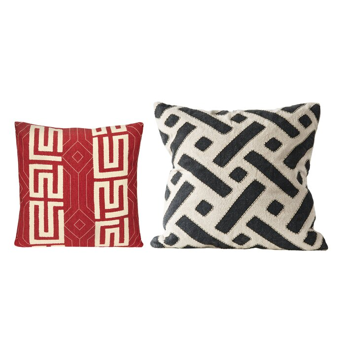 Cool Thuringowa 2 Piece Square Cotton Throw Pillow Set Ocoug Best Dining Table And Chair Ideas Images Ocougorg