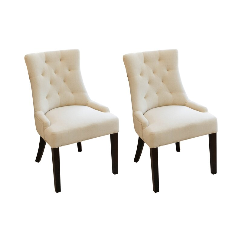 perry upholstered dining chair set of 2