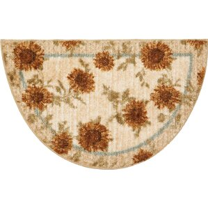 delicate sunflower kitchen rug