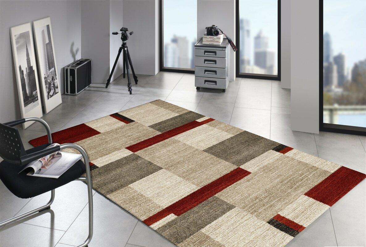 house additions teppich in beige rot bewertungen. Black Bedroom Furniture Sets. Home Design Ideas