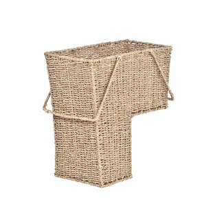 Merveilleux Wicker Storage Stair Basket With Handles