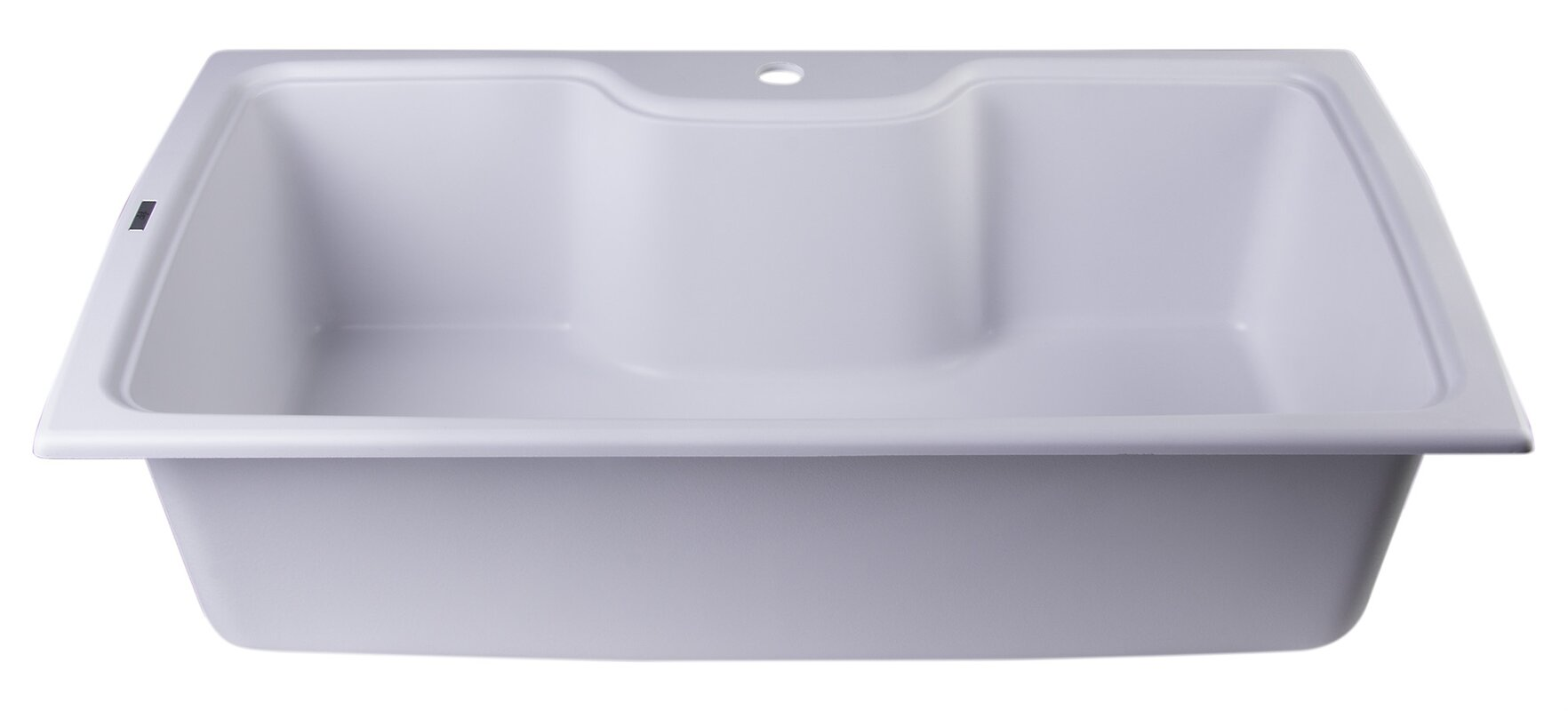 kitchen sink brand alfi brand 34 63 quot x 19 69 quot drop in single bowl kitchen 2593