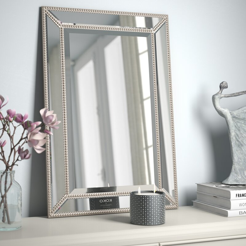 Rosdorf Park Beveled Beaded Accent Wall Mirror & Reviews | Wayfair