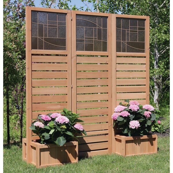 Yardistry Langdon Privacy Screen With Planters Amp Reviews