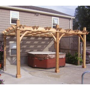 Breeze Attached 12 Ft. W x 16 Ft. D Pergola