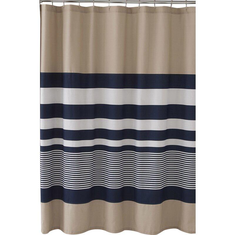 1a239255233 Lorilee Stripe Single Shower Curtain   Reviews