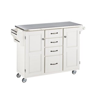 Adelle-a-Cart Kitchen Island with Stai..