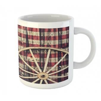 White Printed Ceramic Coffee Tea Cup Gift 11oz mug Wilson Clan Crest Tartan