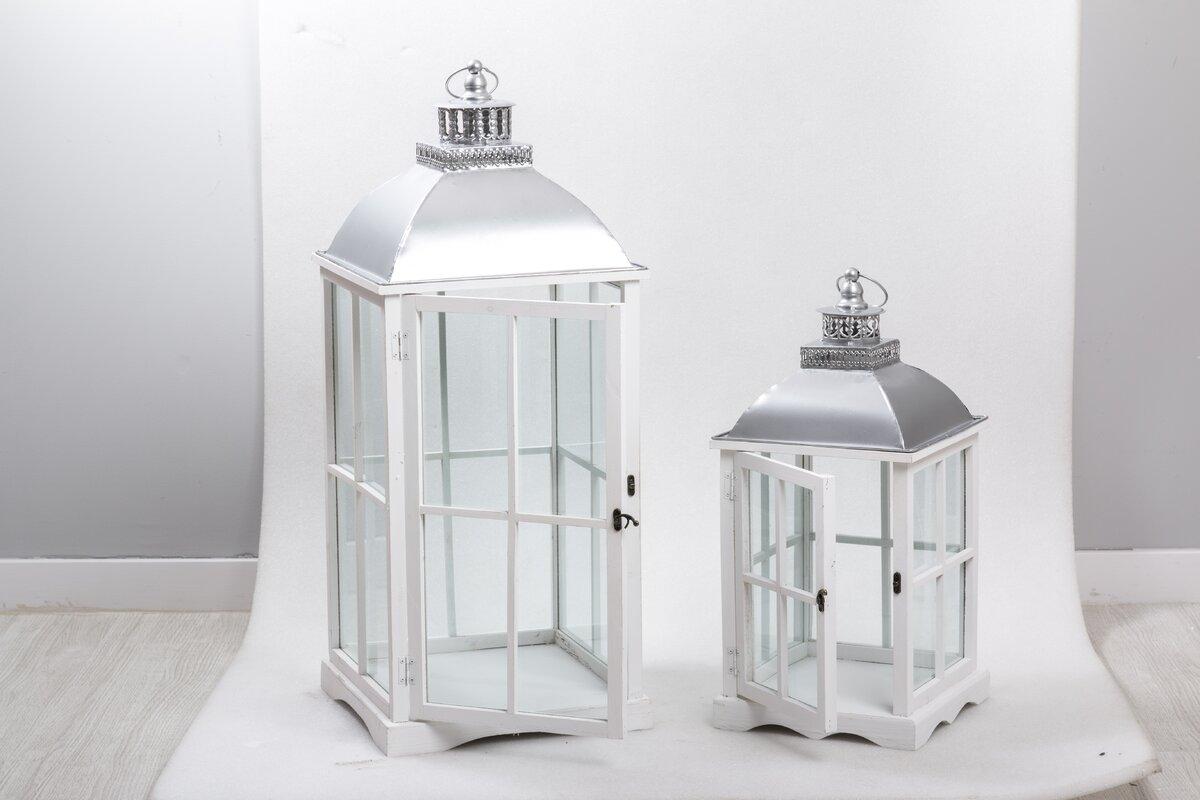 garpe interiores 2 tlg laternen set aus holz und metall bewertungen. Black Bedroom Furniture Sets. Home Design Ideas