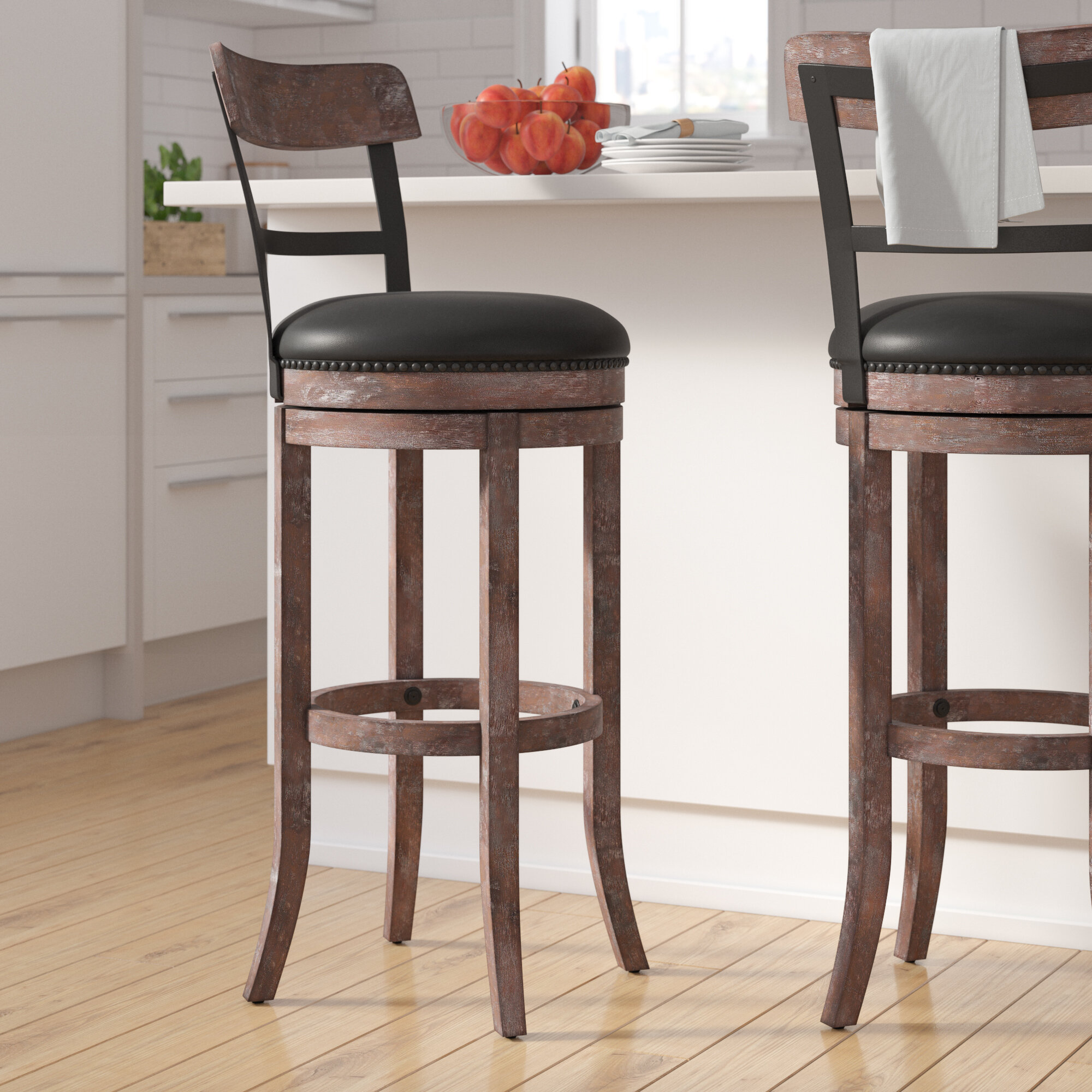 Darby home co carondelet 34 swivel tall bar stool reviews wayfair