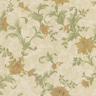 Jacobean Mirage Signature V 33 L X 205 W Floral And Botanical 3D Embossed Wallpaper Roll