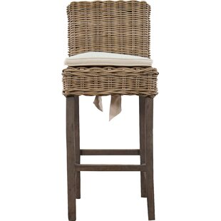 Roshan Indoor/Outdoor Rattan Patio Bar Stool