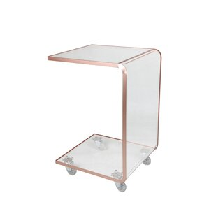 Aileen Acrylic C Shape End Table