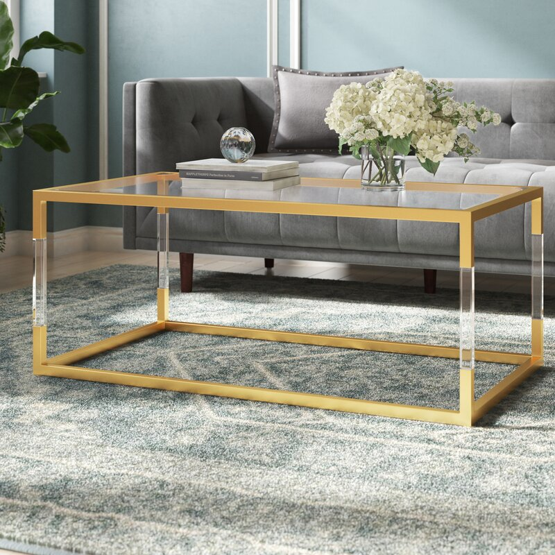 Honea Coffee Table With Tray Top