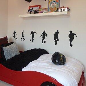 6 Piece Small Footballers Wall Sticker Set