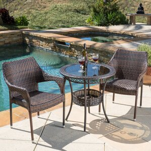 Beautiful Crowley 3 Piece Bistro Set