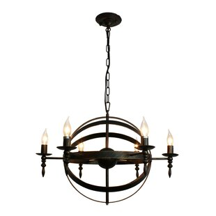 Extra large rustic chandeliers wayfair covent rustic 6 light chandelier aloadofball Image collections
