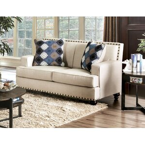 Robertson Transitional Loveseat by Darby Hom..