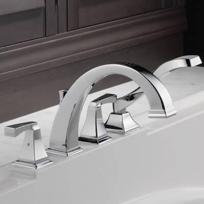 T2751 Sprb Delta Dryden Double Handle Deck Mount Roman Tub Faucet
