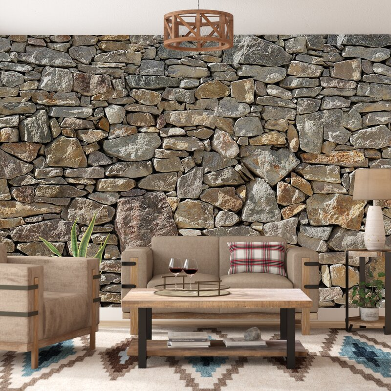 Loon Peak Chicopee 8 Piece Stone Wall Mural Reviews Wayfair