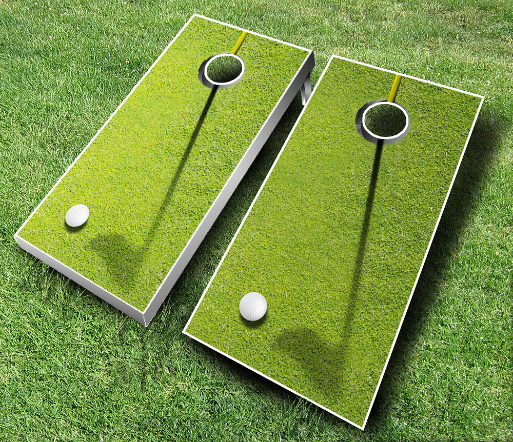 ajjcornhole 10 piece golf cornhole set wayfair. Black Bedroom Furniture Sets. Home Design Ideas