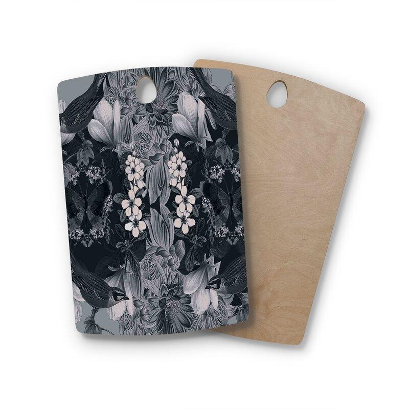 "East Urban Home Suzanne Carter Birchwood Magnolia Cushion Cutting Board  Shape: Rectangle: 16"" x 10.5"""