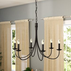 Souders 6-Light Candle-Style Chandelier